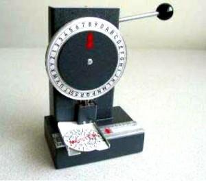 Händische Perforiermaschine für § 57a Perforiermaschine