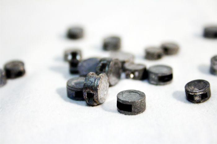 30 x Bleiplompen Bleiblomben Plomben Plombendraht Blomben 8 mm Durchm.4,5m Draht