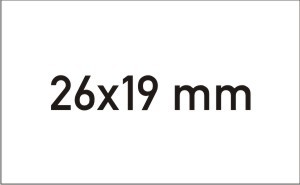Etiketten 26x19 mm - Rechteckig