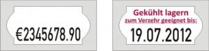Etiketten für Meto 1026