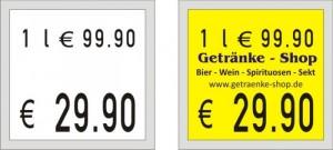 Etiketten für Preisauszeichner Meto 1829 GP
