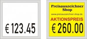 Etiketten für Meto 729