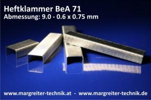 Heftklammer BeA 71