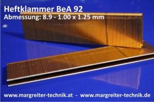 Heftklammer BeA 92