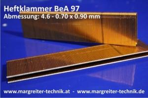 Heftklammer BeA 97