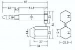 Containerplombe-Snapper-Zeichnung