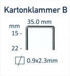 Kartonklammer-B-Abmessung