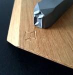 Prägestempel-Holz