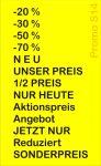 Preisauszeichner Blitz Promo S14 Texte