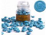 Siegelwachs Perlen Blau